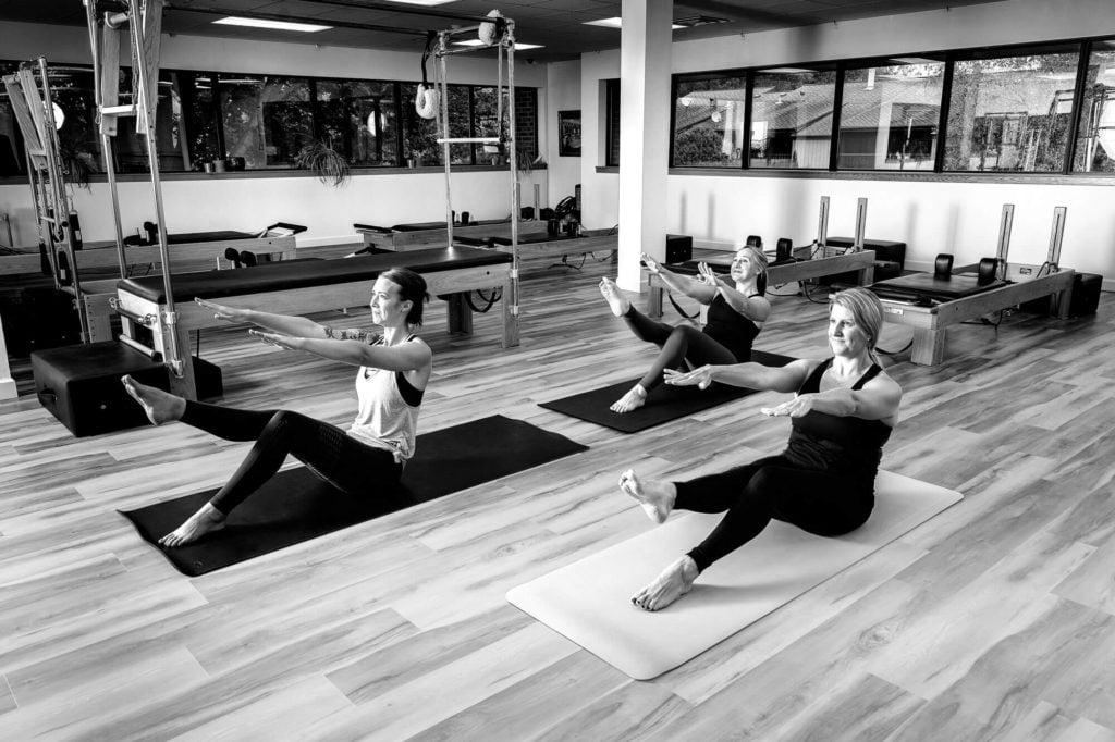 Pilates course in progress