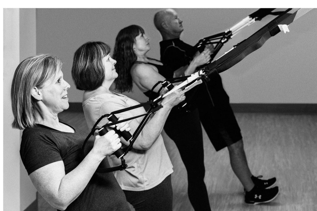 TRX students in class